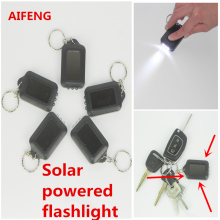 AIFENG 5PCS Mini flashlight solar containing battery charged mini 3 led keychain flashlight key chain lighting night light