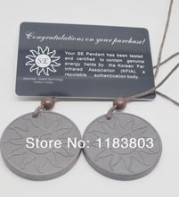 HOT 2017 new arrival SEenergy pendant 10pcs/lot Quantum Scalar Energy Pendant SE Design Health pendant Necklace 2000-3000cc ions(China)