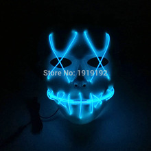 Halloween Masks LED clothing Neon Terror EL Masks Cold light Festival Party Glowing dance Carnival By Sound Active Driver