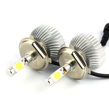 2x H4 COB LED Beam 60W Replacement Daytime Running Lights Car DRL Fog Headlight Conversion Driving Bulb Car Light Source(China)