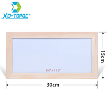 XINDI 15*30cm Mini Kids Whiteboard Dry Erase Original Pine Wood Frame Magnetic Drawing White Board Message Writing Boards WB39(China)
