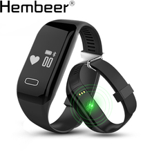 H3 Smartband Heart Rate Monitore Smart Wristband Bracelet Health Wrist Watch Call Alarm Vibrating for xiomi Android&ios phone(China)