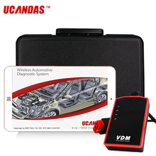 UCANDAS VDM V3.9 OBD OBD2 Scanner Full System Auto Professional Diagnostic Tool Wifi ABS SRS Airbag Oil Reset Tool Free Upgrade(China)
