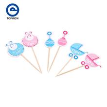 Baby Dress Party Cupcake Toppers Picks Decoration For Kids Birthday Party Baby Shower Cake Favors Decoration Supplies