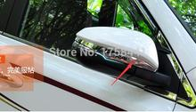 ABS ! Chrome Side Door Mirrors Rearview Stripe Cover 2 pcs For TOYOTA RAV4 2013 2014(China)