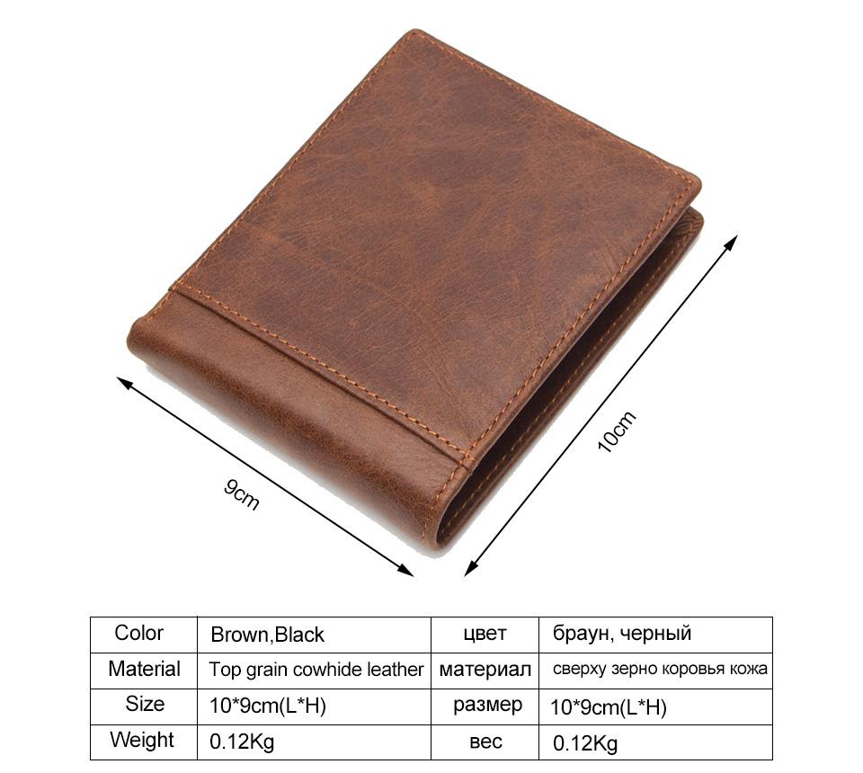 1 men wallet genuine leather
