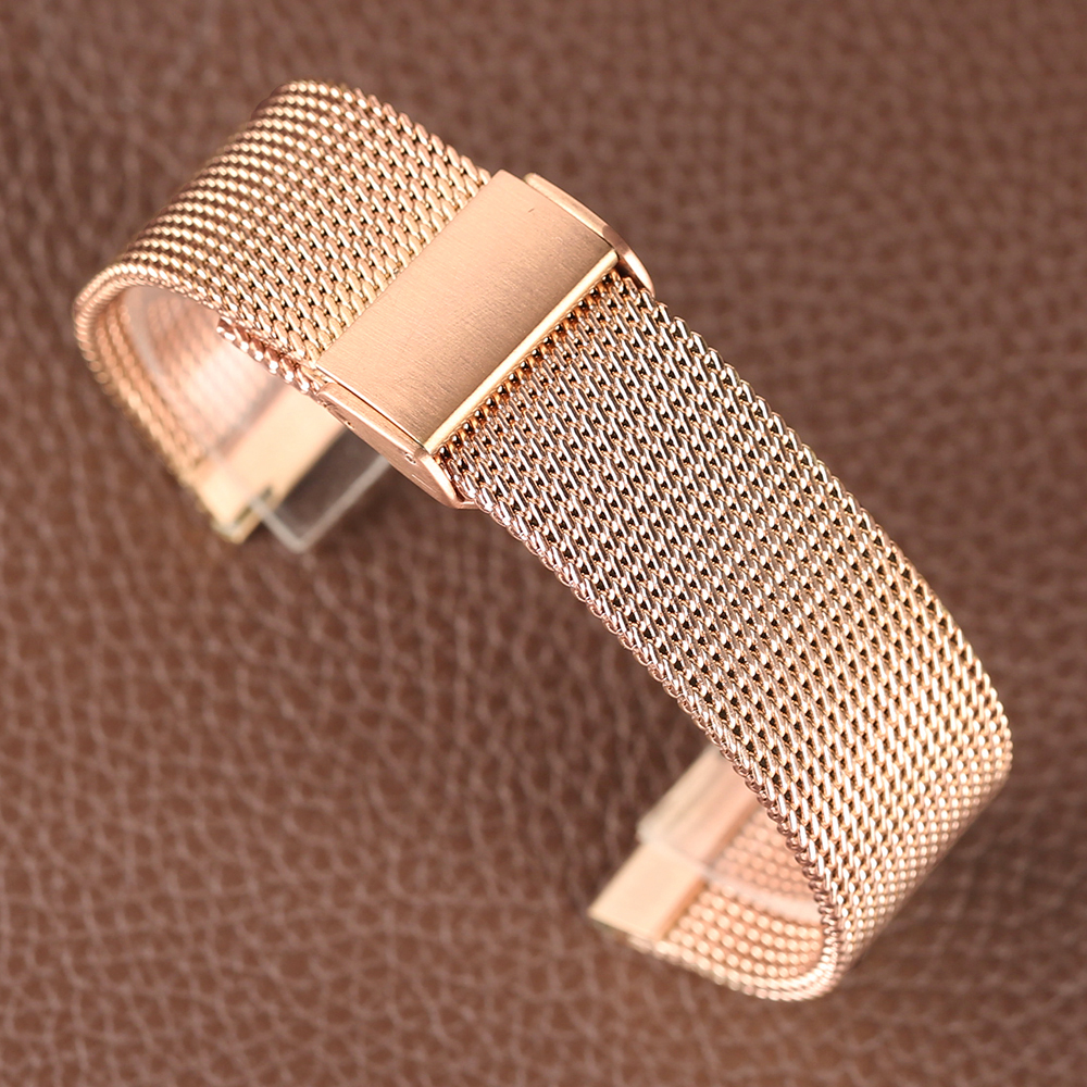 Rose Golden Stainless Steel Watch Band 2018 New Arrival 182022mm Women Men Wrist Band for HuaWei (8)