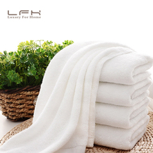 10pcs/lot Good Quality Cheap Face Towel Small Towel 32X72CM Hand Towel Hotel White Cotton Towel Multi-Purpose Highly Absorbent(China)