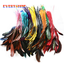 Cheap Colorful 24pcs Dyed Turkey Feather Hair Extensions Wedding Bouquet Decorations Feathers for sale Length 12-20cm IF10(China)