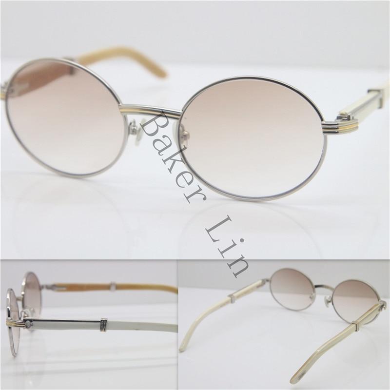 Cartier 7550178 White Genuine horn Sunglasses 55
