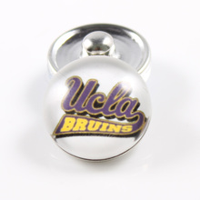 UCLA Bruins 18mm Snap Button Fit Ginger Snap Bracelet Bangles NCAA Football Baseball Series Jewelry 10PCS