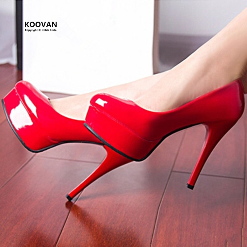 Koovan Women Pumps 2017 New Fashion Women Shoes 12CM Red High-heeled Shoes With Thin Woman Wedding Shoes Women Pumps Red<br><br>Aliexpress