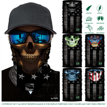 EXPRESS SHIPPING Super 3D Design Outdoors Headwears Cycling Sport Skull LOVE USA Multifunction USA Flag Bandana Scarf Face Mask(China)