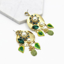 2017 Fashion Brincos Bohemian Long Earrings Unique Natural Leaf Big Gold Drop Earrings For Women Fine Jewelry Gift(China)