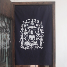 Buddhist Buddhism Cloth door curtain Buddha rubbings solemnly seated standing Buddhism ancient China India buddhist curtain(China)
