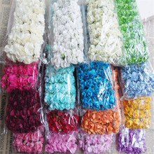 144PCS Mini Flower Head Artificial Paper Flowers Rose Used For Wedding Party Craft Decoration 16 Colors