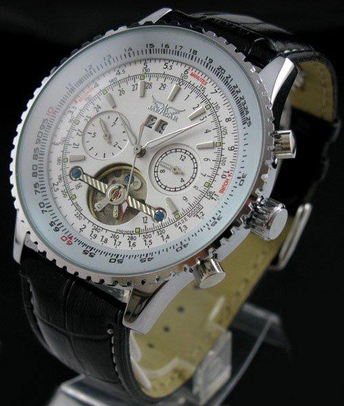 Mens AUTO Mechanical 5 Hands Multi Function Fashion Watch freeship<br>