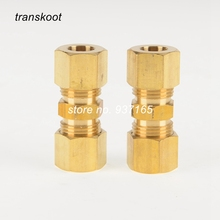 "Brass Pipe Fitting Compression Union with Tubo OD 1/2"" 5/8"" 3/4"", Brass Hose Union Compression"
