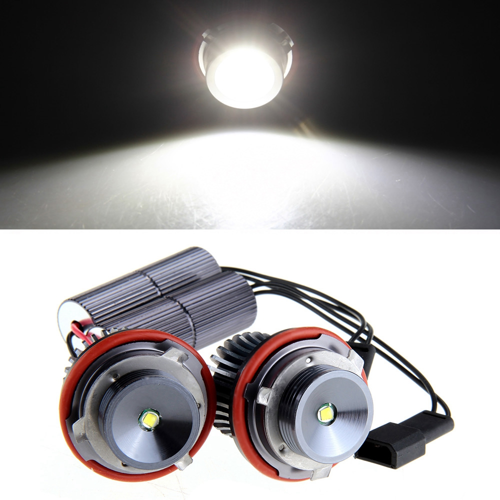 Qook 2 piece H8 10W LED Angel Eye Light White for BMW E39 E53 E65 E66 E60 E61 E63<br><br>Aliexpress