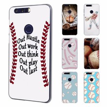Play Baseball Laces Style Ultra Thin phone case for Huawei honor 8 lite V8 7 case for Honor 4C 5C 4X 5X(China)