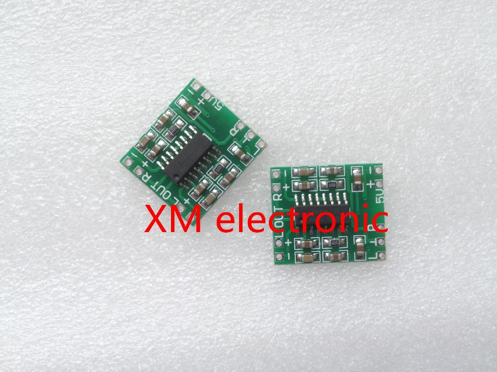 1pc PAM8403 module mini digital amplifier board 2 * 3W Class D digital amplifier board efficient 2.5 to 5V USB power supply I62 3