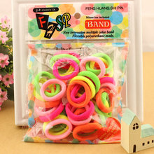 25pcs/bag 2017 New Fashion Child Baby Kids Ponytail Holders Hair Accessories For Girl Headwear Rubber Hair Band Tie Gum(China)