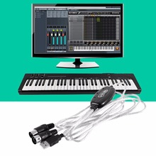 New Converter PC to Music Keyboard Cord USB IN-OUT MIDI Interface Cable Wholesale