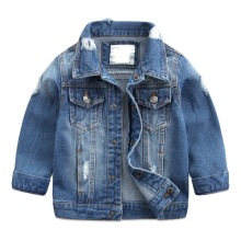 NEW 2017 spring new children's jacket fashion casual boy jeans jackets classic wind protects outerwear Soft washed denim jacket