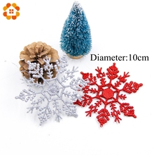 Buy 6PCS 10CM Bling Colorful Snowflake Christmas Tree Decoration Christmas DIY Home Merry Christmas Party Decoration Kids Gifts for $1.90 in AliExpress store