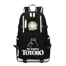 My Neighbor Tototo Kawaii Style Printing Laptop Backpack Large Capacity Canvas Military Backpack Anime Cartoon Women School Bags(China)
