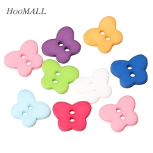 25pcs 13x11mm 2 Holes Resin Buttons Butterfly Fit Sewing And Scrapbooking Mixed Sewing Accessories