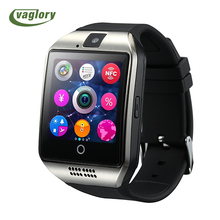 Vaglory Bluetooth Smart Watch Q18 With Camera Facebook Whatsapp Sync MP3 Smartwatch Support SIM TF Card For IOS Android Phone