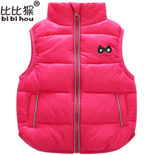 Bibihou 2017 Winter Kids Waistcoats children clothes Vest Warm Coat Infant sleeveless Jacket Cotton Kid Clothe Boy Girl Outwear