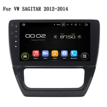 "10.1"" Quad Core Android 5.1.1 A9, 4-core Support DAB/TMPS/DVB-T2/Parrot BT Car GPS Navigation For VW SAGITAR AT 2012-2014"