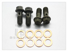 4 Pcs M10 x 1.0 Banjo Bolt W/ Copper Crush Washers Brembo For Brake Master Cylinders Calip(China)