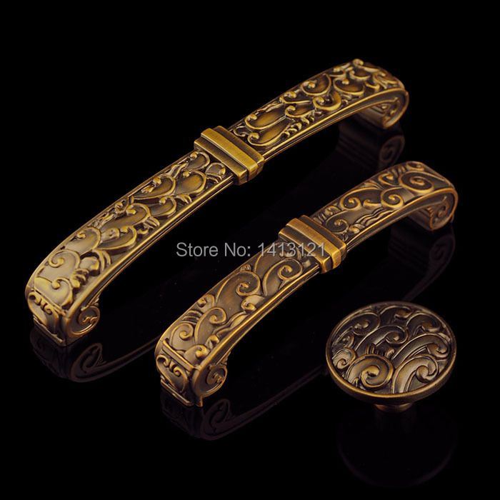 free shipping zinc alloy furniture handle European antique kitchen shoe cabinet door knob drawer pull household Hardware part<br>