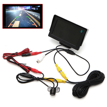 "2 In1 Car Parking Kit 4.3"" TFT LCD Monitor+Waterproof Reversing Rearview Camera Car Monitors Car Electronics(China)"