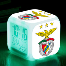 Sport Lisboa e Benfica led alarm clock snooze digital clocks football fans gift reveil projection Christmas watch toy for kid(China)