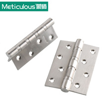Meticulous Flat open door hinges Thickness 3mm 4 inch ball bearing hinge 101mm stainless steel furniture gate hinge brushed(China)