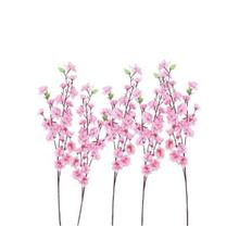 10pcs Peach Blossom Flowers Silk Flower Artificial Flowers Fall Vivid Fake Leaf Wedding Flower Bridal Bouquets Decoration(China)