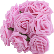 10 Heads 8CM Artificial Rose Flowers Wedding Decorations  Silk Flower Ball Centerpieces Mint Decorative Hanging Flower p20