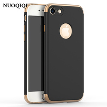 Buy NUOQIQI Plating Case Apple iPhone 7 6 6s 8 Plus Phone Cases Gold Black Luxury Thin Back Hard Case iPhone 5 5s se X Cover for $2.03 in AliExpress store