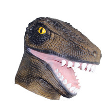 X-MERRY TOY Horror Crocodile Mask Latex Animal Full Head Mask Adult Cosplay Party Halloween mask(China)