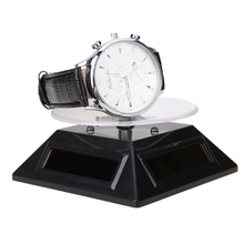 New Cool Watch Parts Fashion 3 Color LED Solar Light Parts Showcase 360 Turntable Rotating Display Stand