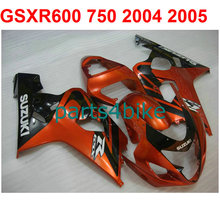 Burnt Orange gsxr 600 Fairing kit For Suzuki 750 2004 2005 04 05 ( 100%Abs) Motorcycle Racing fairings +7gifts m33