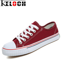 Buy Keloch Women Canvas Shoes Classic Brand Casual Women shoes Black White Blue Red Flat Canvas Shoes Female Flats Chaussure Femme for $14.89 in AliExpress store