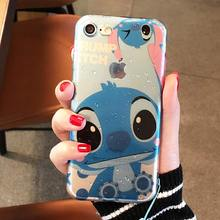 Ultra-thin Creatively 3D Rain drop water raindrop Tpu back cover phone case for Apple iphone 6 6s plus 7 7plus Cute Stitch case