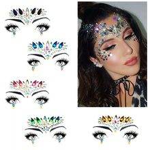 Music Festival Face Sticker Eco-Friendly Resin Rhinestone Tattoo Stickers  Face Jewels Holiday Party Dance Crystal Face Adhesive baa8de7b7497