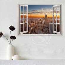 Custom canvas poster New York City in the window poster cloth fabric wall poster print Silk Fabric SQ0626(China)