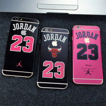 Matte AJ23 Air Michael Jordan 23 Chicago Bulls Fibre Skin Wrap Sticker Decal Protector For iPhone 6 6S PLUS 5.5""